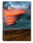 Unusual Clouds Catch Sunset Spiral Notebook