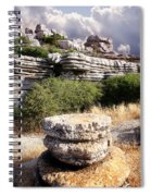 Unusual Rock Formations In The El Torcal Mountains Near Antequera Spain Spiral Notebook