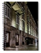 Up Lighting On A European Building At Night  Spiral Notebook