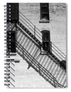 Up The Fire Escape Abstract Spiral Notebook