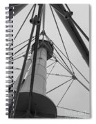 Up Whitefish Point Gryascale Spiral Notebook