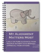 Uplifting Elephant Spiral Notebook