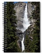 Upper And Lower Yosemite Falls Spiral Notebook