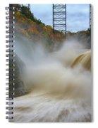 Upper Falls After A Storm Spiral Notebook