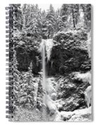 Upper Falls In Snow's Cover Spiral Notebook