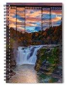 Upper Falls Letchworth State Park Spiral Notebook