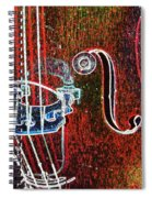 Upright Bass Close Up Spiral Notebook