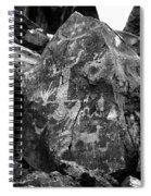 Upside Down Man B/w Spiral Notebook