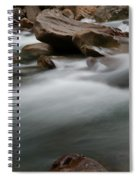 Upturned Rock In A Flowing Stream Spiral Notebook