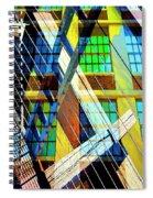 Urban Abstract 123 Spiral Notebook