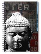 Urban Buddha 4- Art By Linda Woods Spiral Notebook