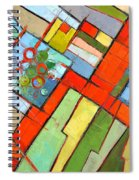 Urban Composition - Abstract Zoning Plan Spiral Notebook
