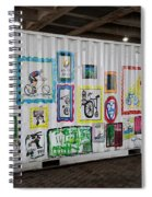 Urban Container Art I V Spiral Notebook