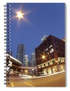 Urban Curves Of Light Spiral Notebook