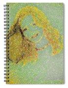 Urban Street Art Sketch Girl Spiral Notebook