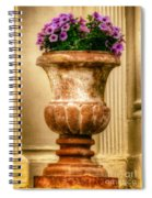 Urn With Purple Flowers Spiral Notebook