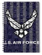 Us Air Force Logo Recycled Vintage License Plate Art Spiral Notebook