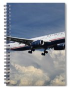 Us Airways A330-200 N280ay Spiral Notebook