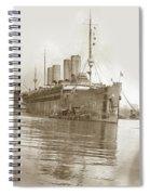 U.s. Army Transport Uss Mount Vernon 1917-1919 Spiral Notebook