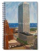 Us Bank And Sailboats Spiral Notebook