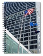 Us Bank With Flags Spiral Notebook
