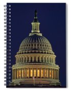 U.s. Capitol At Night Spiral Notebook
