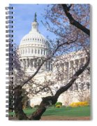 Us Capitol Building And Cherry Spiral Notebook