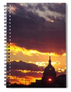 U.s. Capitol Dome At Sunset Spiral Notebook