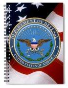 U. S. Department Of Defense - D O D Emblem Over U. S. Flag Spiral Notebook