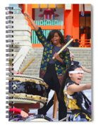 U.s. First Lady Michelle Obama  Plays The Taiko Drum  Spiral Notebook