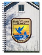 Us Fish And Wildlife Service Sign  3931 Spiral Notebook