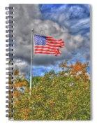Us Flag 8091 Spiral Notebook