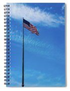Us Flag At Liberty Island Spiral Notebook