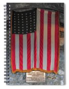 Us Flag At Whiteface Mountain Ny Spiral Notebook