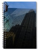 Us Flag Left Spiral Notebook