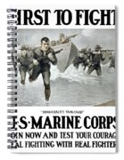 Us Marine Corps - First To Fight  Spiral Notebook