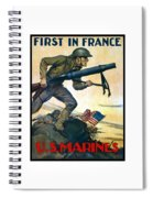 Us Marines - First In France Spiral Notebook