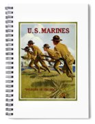 Us Marines - Soldiers Of The Sea Spiral Notebook