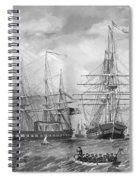 U.s. Naval Fleet During The Civil War Spiral Notebook