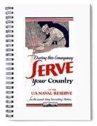 Us Naval Reserve Serve Your Country Spiral Notebook