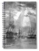 U.s. Naval Ships At The Brooklyn Navy Yard Spiral Notebook