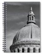 U.s. Naval Academy Chapel Dome Bw Spiral Notebook