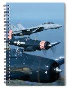 Us Navy Lagacy Flight  Spiral Notebook