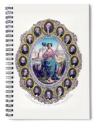 Us Presidents And Lady Liberty  Spiral Notebook