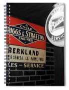Us Route 66 Briggs And Stratton Signage Sc Spiral Notebook