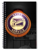 Us Route 66 Buick Sales Globe 02 Sc Spiral Notebook
