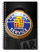 Us Route 66 Cadillac Service Globe Sc Spiral Notebook