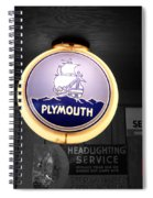 Us Route 66 Plymouth Sales Globe Sc Spiral Notebook