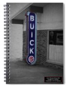 Us Route 66 Smaterjax Dwight Il Buick Signage Sc Spiral Notebook