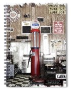 Us Route 66 Smaterjax Dwight Il Gas Pump 01 Pa 01 Spiral Notebook